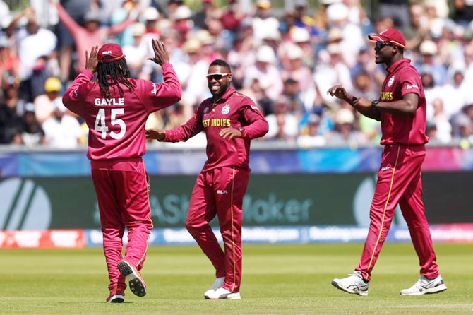 Fabian Allen (centre) was included in the squad on the back of his performance at the Caribbean Premier League (CPL) last year and recently at the ICC Men's Cricket World Cup 2019