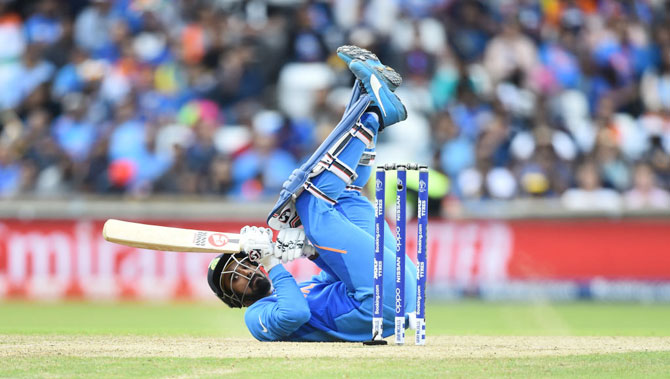 KL Rahul looks on as he is caught behind off the bowling of Lasith Malinga