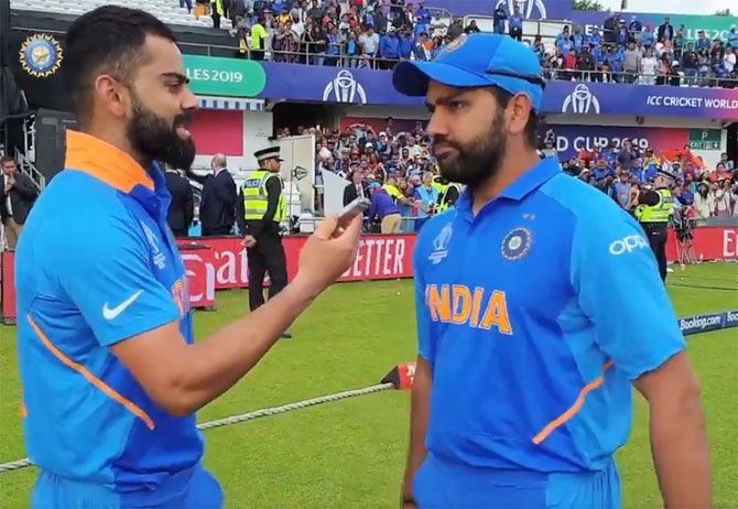 Virat Kohli with ODI deputy Rohit Sharma