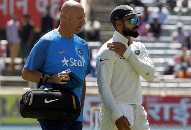 India physiotherapist Patrick Farhart's tenure ended after the side crashed out of the World Cup with a semi-final loss to New Zealand