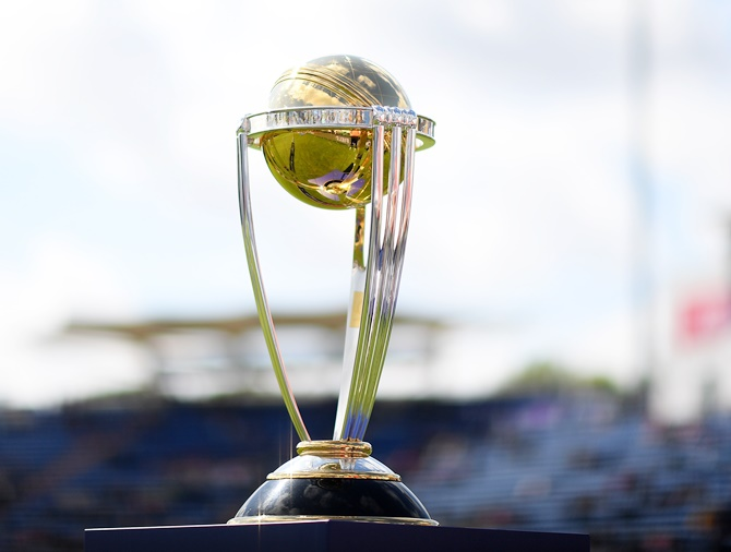 The ICC World Cup trophy