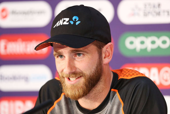 New Zealand captain Kane Williamson addresses the media during a press conference on Saturday