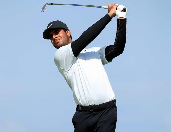 British Open: Shubhankar tied 20th as Tiger struggles