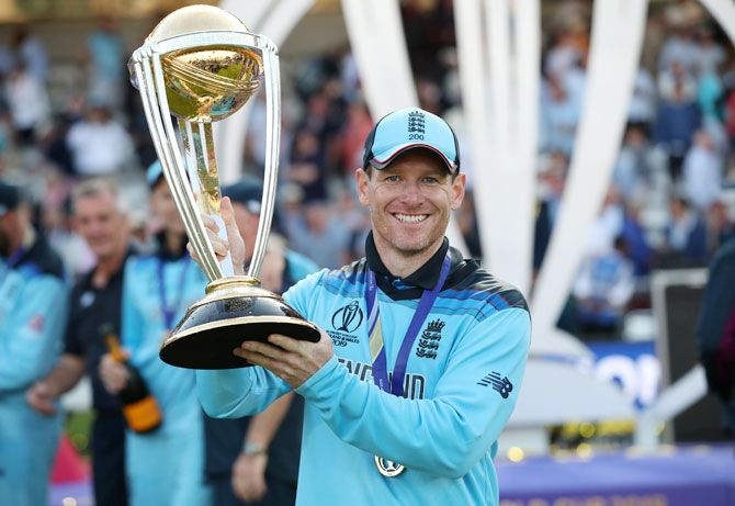 The Eoin Morgan-England team won their maiden World Cup title at home last year, beating New Zealand on boundary count rule, in a dramatic final at the iconic Lord's.