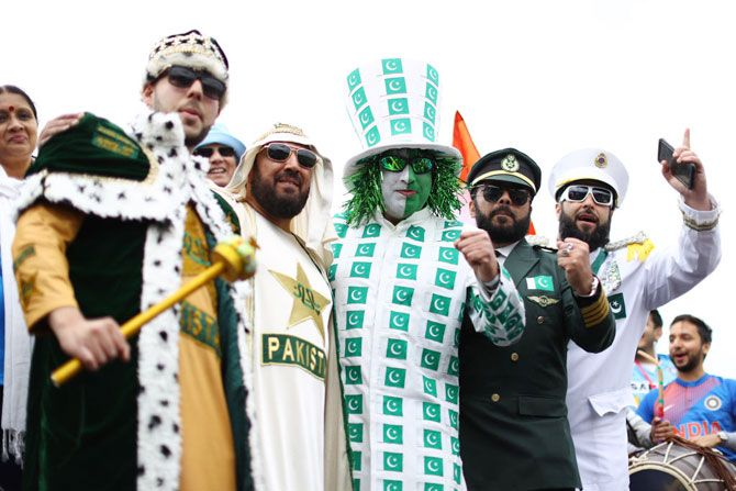 Pakistan fans in carnival mood at the match