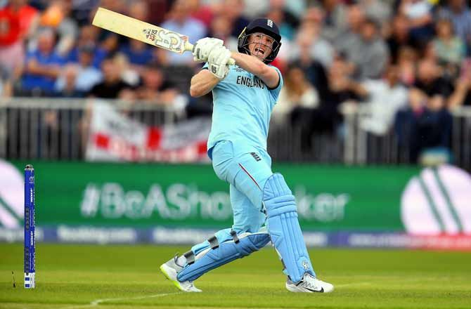Eoin Morgan registered the fourth fastest hundred in World Cup history, getting his 13th ODI hundred off only 57 balls