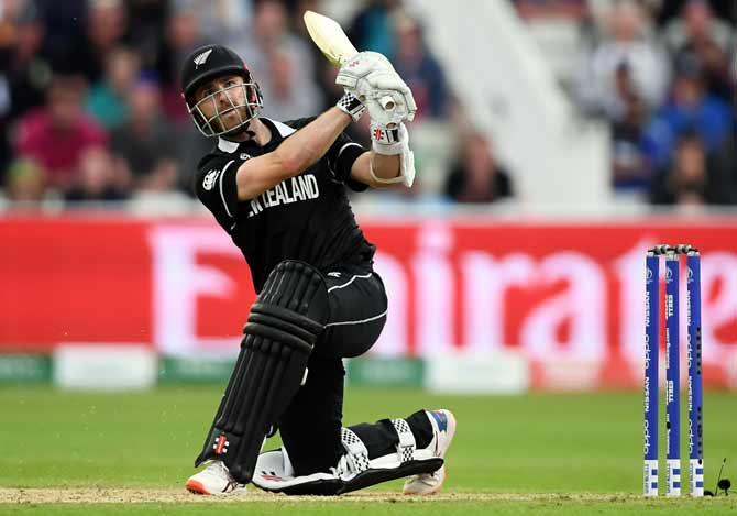 Kane Williamson hits a six