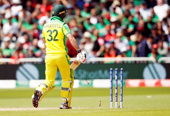 Glenn Maxwell is run-out