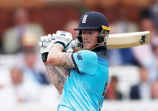 Ben Stokes hit eight 4s and two 6s in his fighting 89 off 115 balls.
