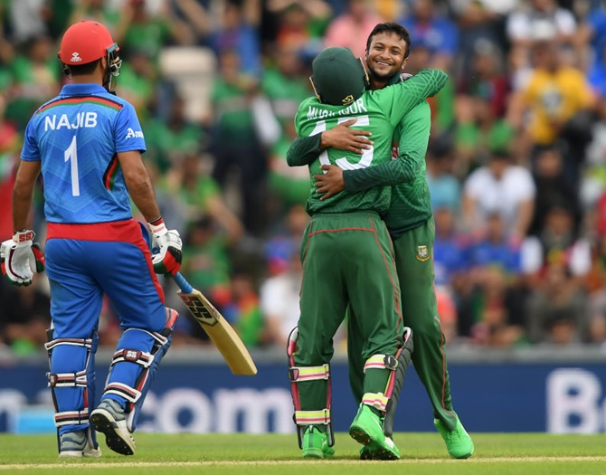 WC PIX: B'desh sink Afghanistan after Shakib brilliance