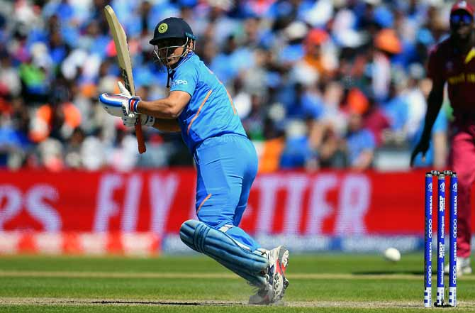 Mahendra Singh Dhoni scored 56 not out off 61 balls against West Indies on Thursday