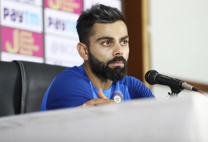 'We will have to work out the batting combination to try and give game-time to the guys we want to. But, I don't see the bowling combination changing, India captain Virat Kohli said during a press conference on Friday
