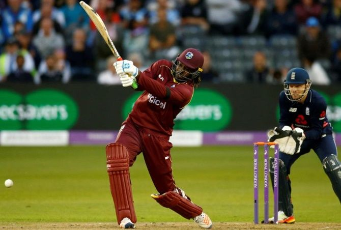 Chris Gayle hit 34 sixes in the ODI series against England in March