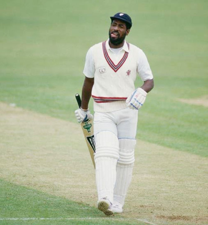 West Indies great Viv Richards had amassed 8540 runs and 6721 runs in 121 Tests and 187 ODIs respectively in his career.