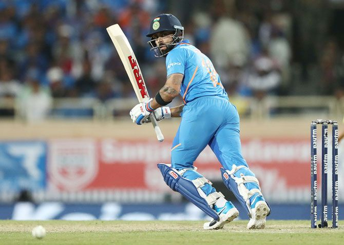 The Indian captain has now got two hundreds and a 40 plus score in the series so far