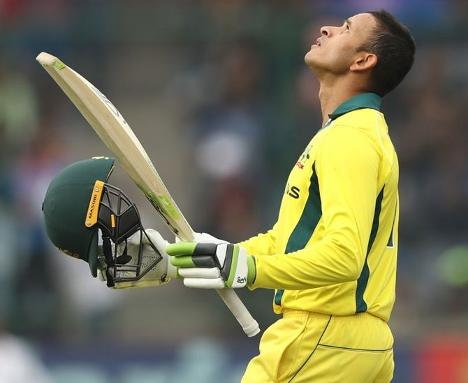 Usman Khawaja struck his second century in three matches in the 5th ODI against India on Wednesday