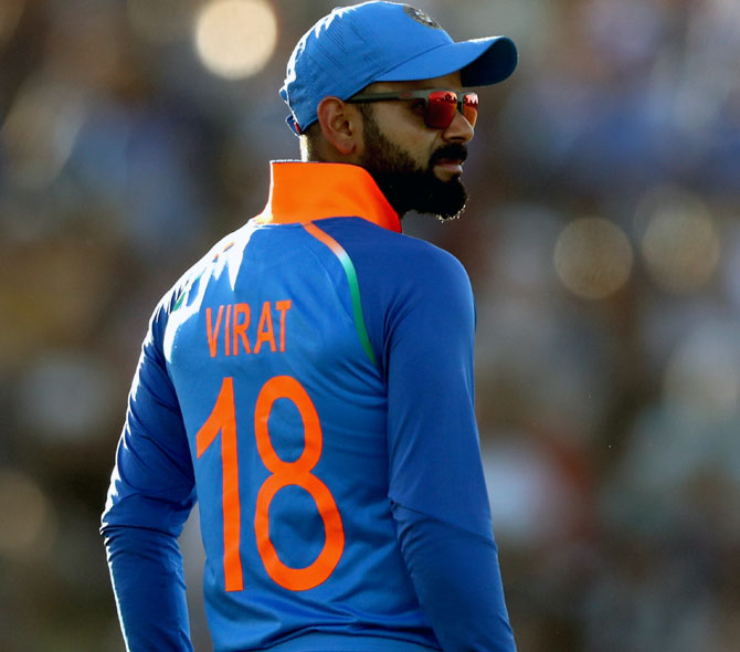 Test players to have numbered jerseys: Kohli 18 - Rediff Cricket