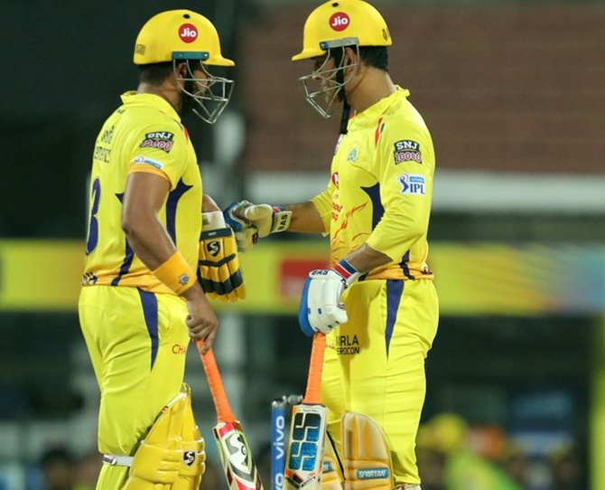 Mahendra Singh Dhoni and Suresh Raina added 61 runs for the 4th wicket after CSK lost early wickets