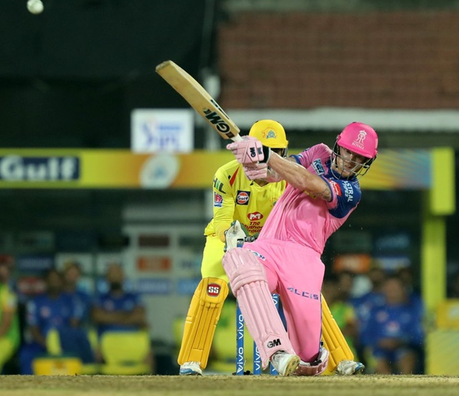 Rajasthan Royals' Ben Stokes struck 46 of 26 balls but could not see his team through on Sunday