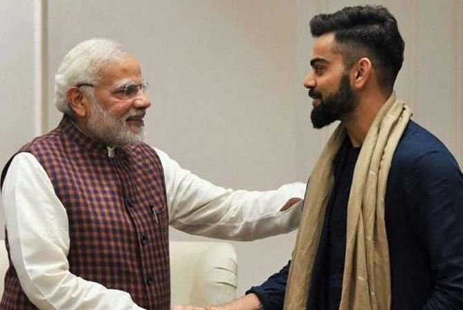 Prime Minister Narendra Modi was greeted by Virat Kohli on his birthday on Thursday