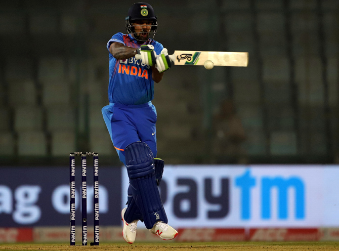 Shikhar Dhawan top-scored for India with 41