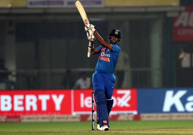 Washington Sundar hit a couple of sixes at the end to boost India's total