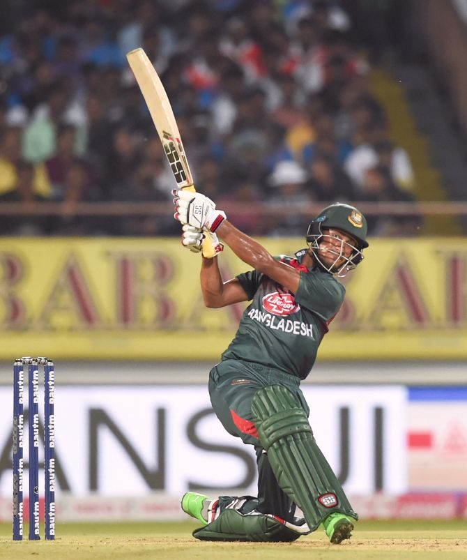 Bangladesh opener Mohmmad Naim top-scored with 36.