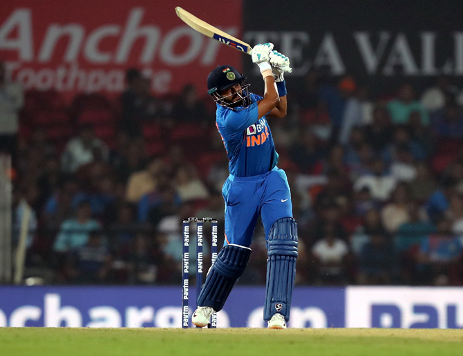 Shreyas Iyer made the best of a 'life' after being dropped on 0 to score 62 off 33 balls.