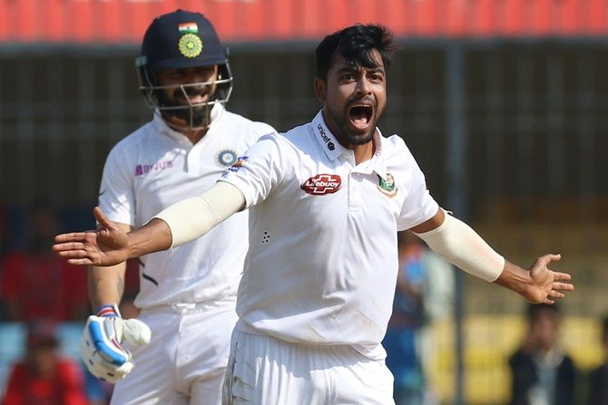 Bangladesh pacer Abu Jayed picked four of the six Indian wickets, including the prized scalp of Virat Kohli in the first Test