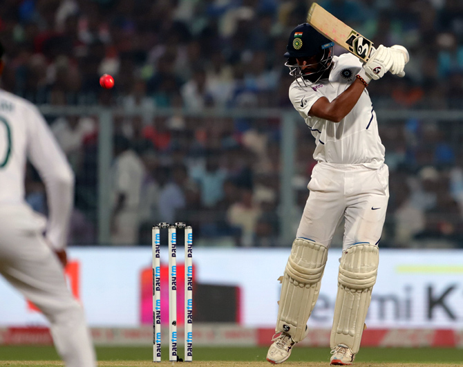 Cheteshwar Pujara scored 55 in India's first innings on Day 1 of the 2nd Test