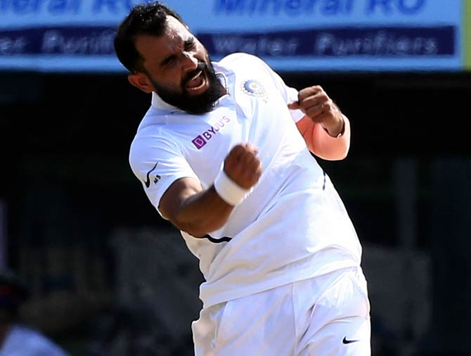 India pacer Mohammed Shami had figures of 7 for 58 in the first Test against Bangladesh in Indore