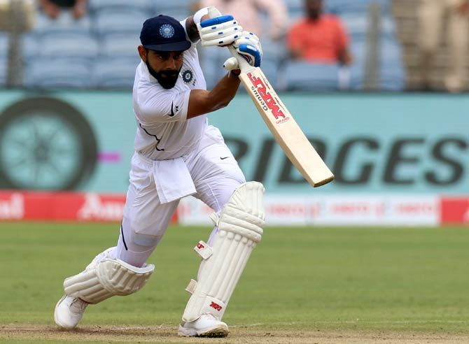 Kohli maintained his hold on the top spot of the Test rankings with 928 points.