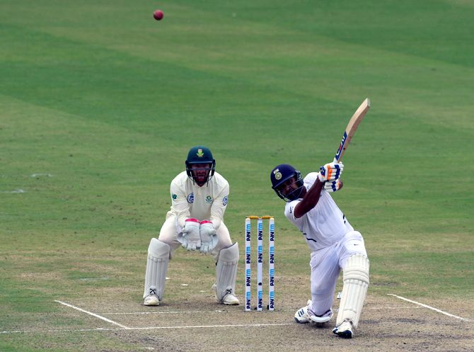 Rohit Sharma continued his sensational run with his third century of the series, powering India to 224 for three after a top-order collapse in the third and final game against South Africa in Ranchi on Saturday