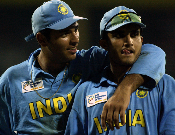 Yuvraj delighted with Ganguly's 'great' journey