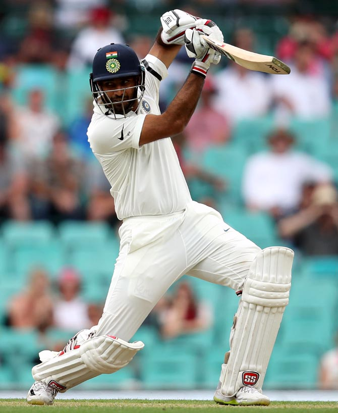 Hanuma Vihari bats during the Sydney Test against Australia in January. Photograph: Cameron Spencer/Getty Images