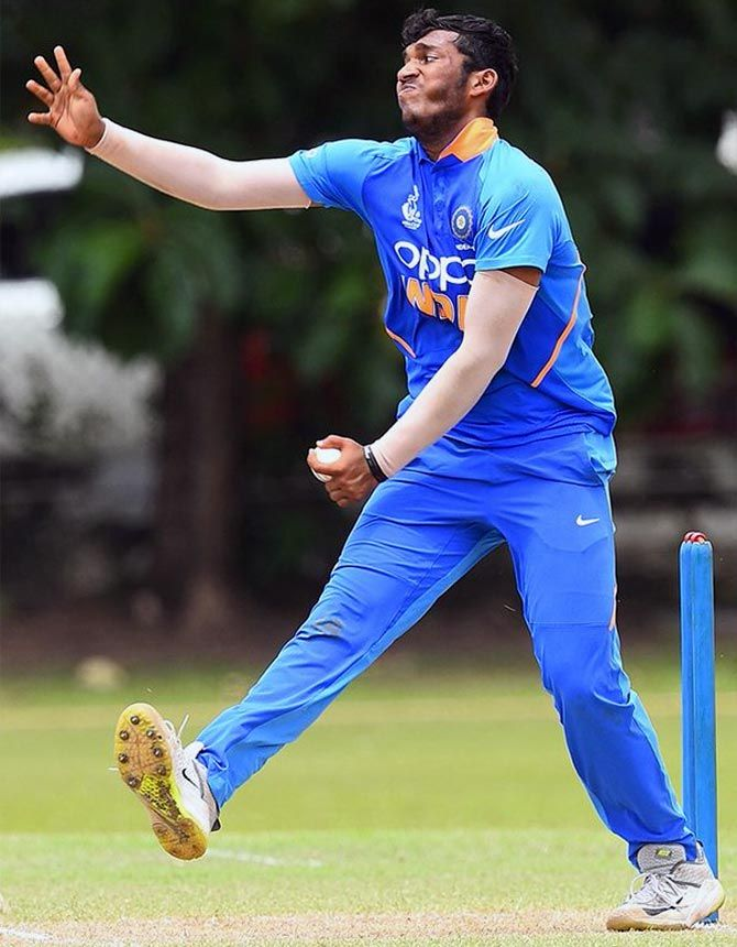 Atharva Ankolekar in action during the Asia Cup Under-19 final against Bangladesh in Colombo on Saturday, September 14, 2019. Photograph: Asian Cricket Council/Twitter