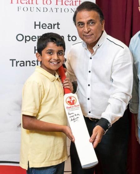 Gavaskar raises funds for child heart surgeries