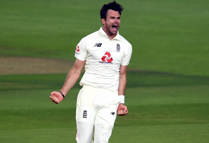 James Anderson celebrates after taking the wicket of Pakistan captain Azhar Ali. He picked two wickets on Day 1 of the 2nd Test against Pakistan