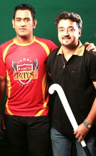 Deepak Sharma with Mahendra Singh Dhoni