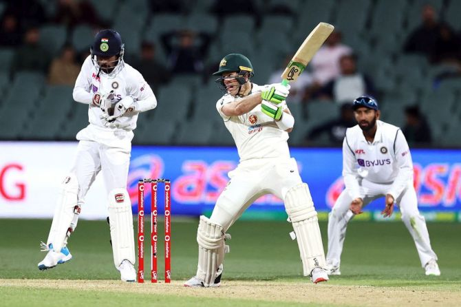 Australia captain Tim Paine put on a lone fight in their first innings
