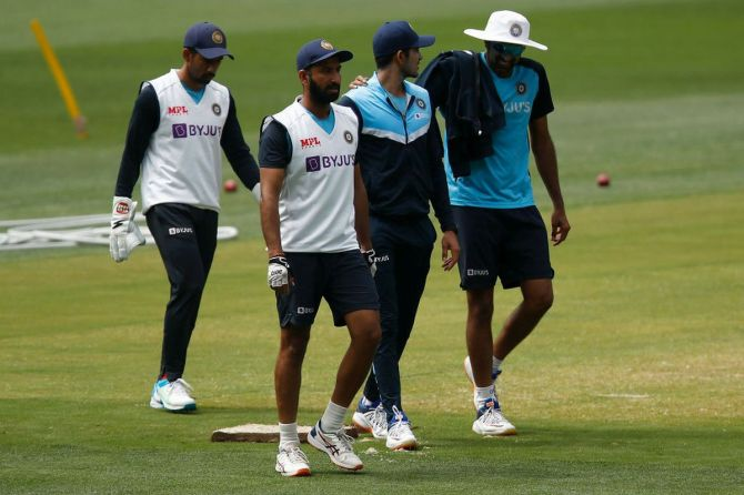 India players at a training session at the Melbourne Cricket Ground in Melbourne on Wednesday