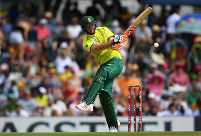 South Africa's Heinrich Klaasen bats during his breezy 66 from 33 balls.