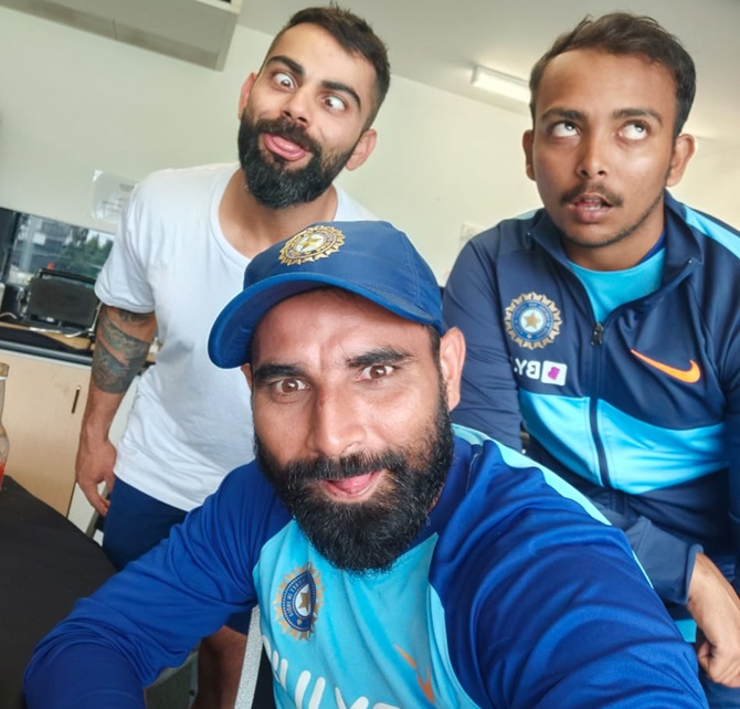 'Sundar dost': Kohli goofs around with Shaw, Shami