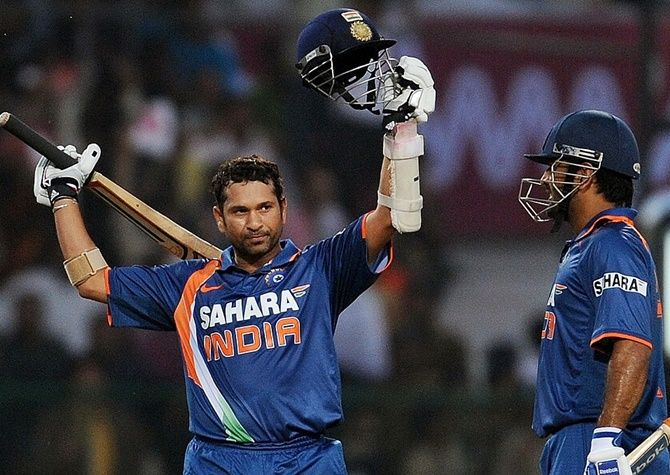 Sachin Tendulkar scored runs at a brisk pace and went on to register a double century off just 147 balls