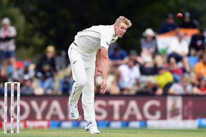 New Zealand pacer Kyle Jamieson wrecked India's first innings, finishing with five wickets for 45 runs from 14 overs.
