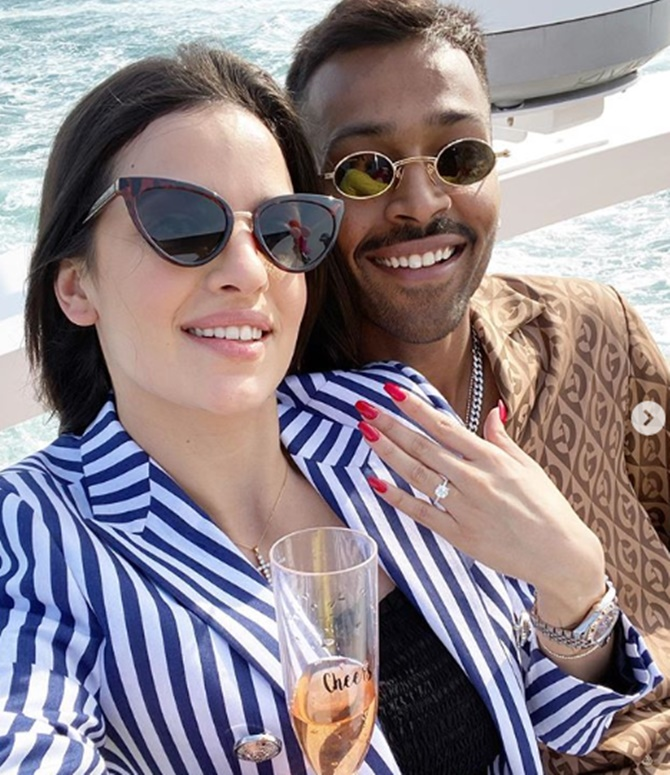 Who is Natasa, the model Hardik Pandya is engaged to?