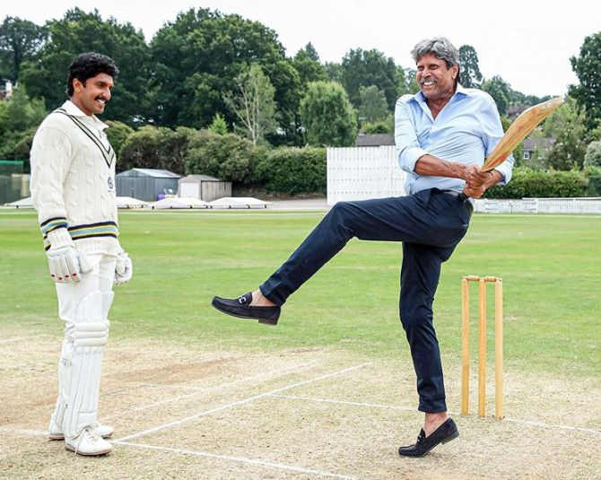 Kapil Dev with Ranveer Singh