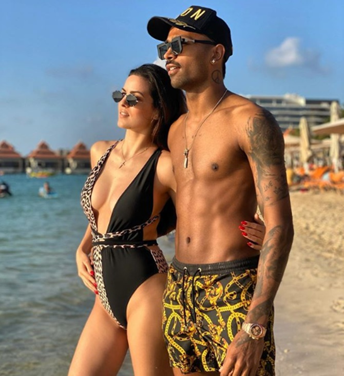 Natasa Stankovic and Hardik Pandya