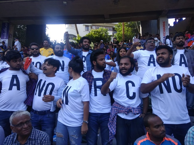 Anti-CAA protest at Wankhede