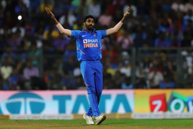 Jasprit Bumrah was hammered for 50 runs in his 7-over spell in the 1st ODI in Mumbai on Tuesday
